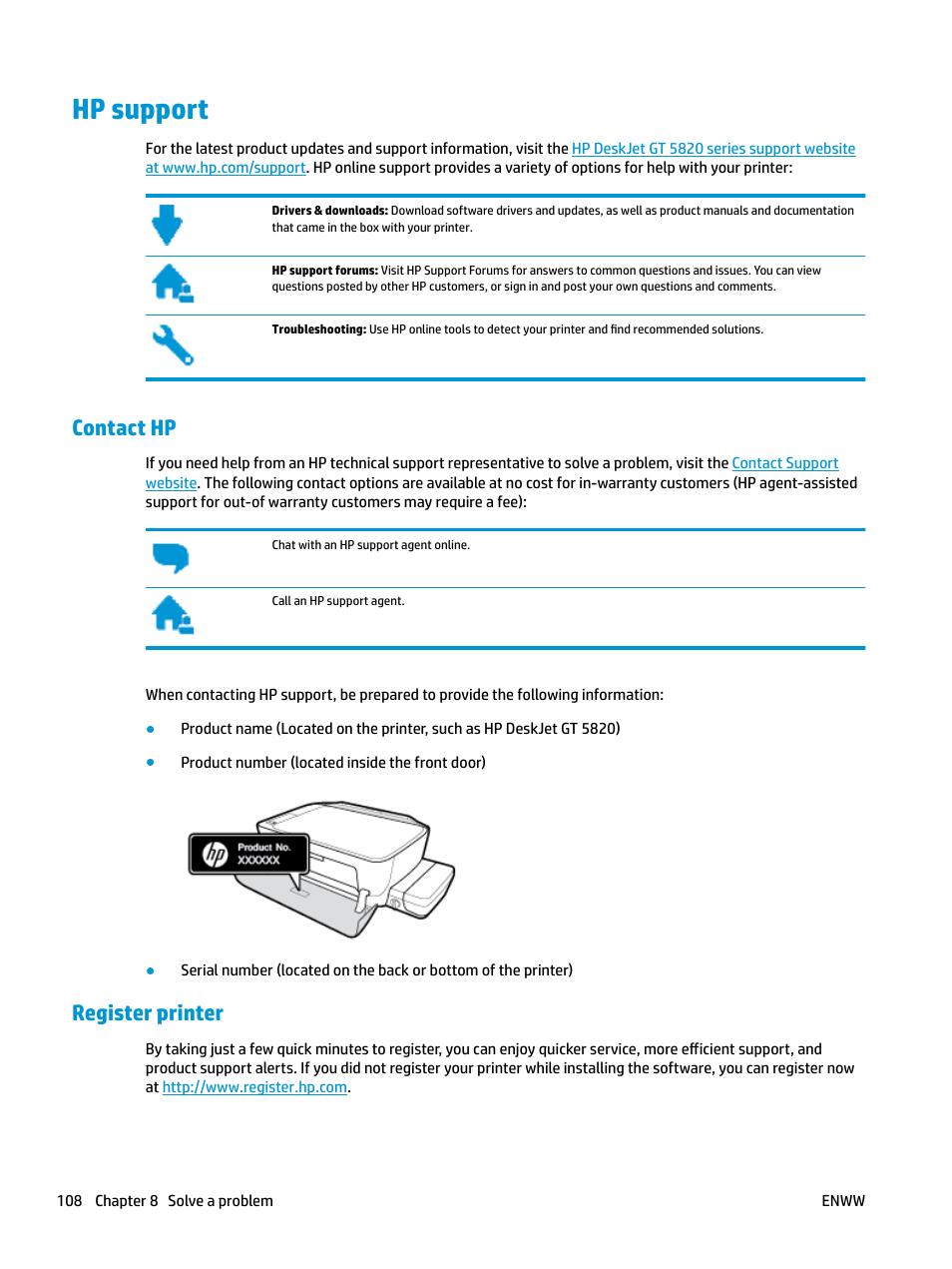 hp support contact hp register printer hp deskjet gt 5820 user rh manualsdir com Parts Manual HP Officejet All One Printer