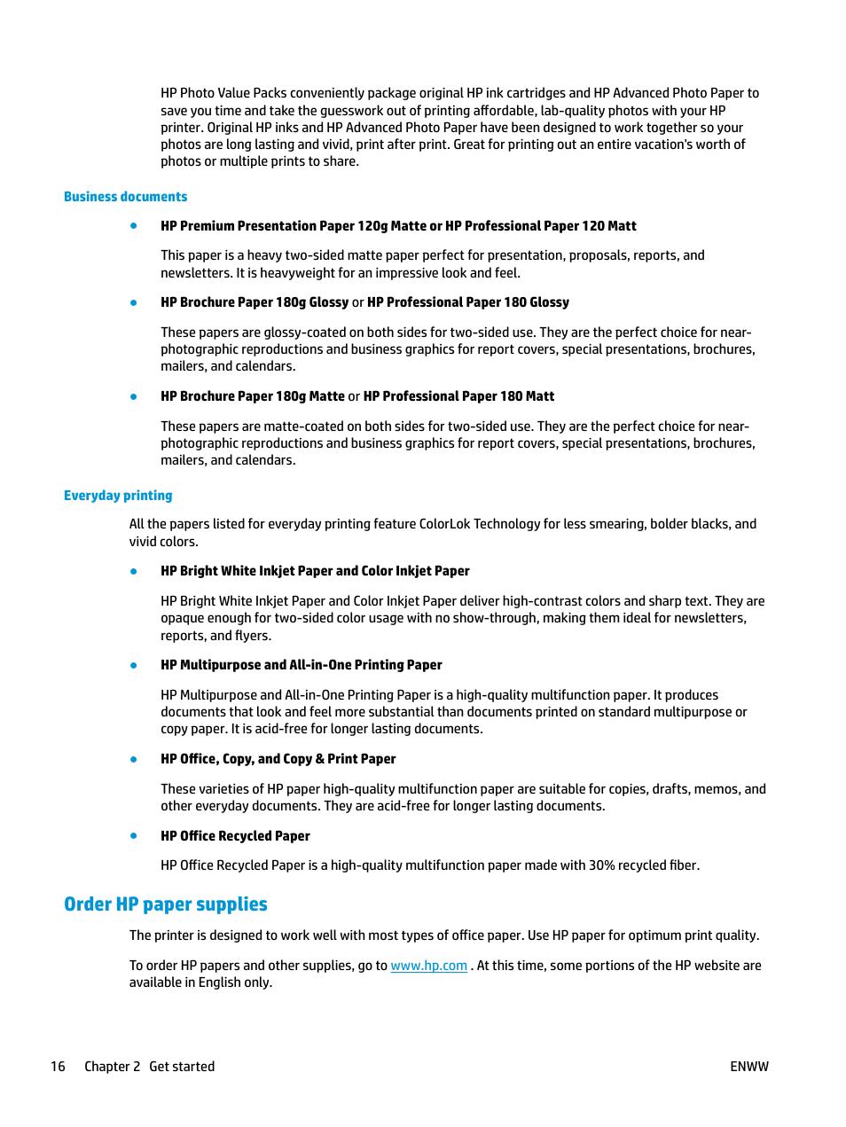 Order hp paper supplies | HP DeskJet 3700 User Manual ...