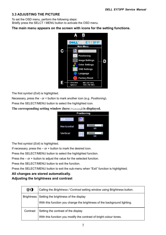 dell e173fp user manual page 7 56 rh manualsdir com dell e173fpf service manual dell e173fpb service manual