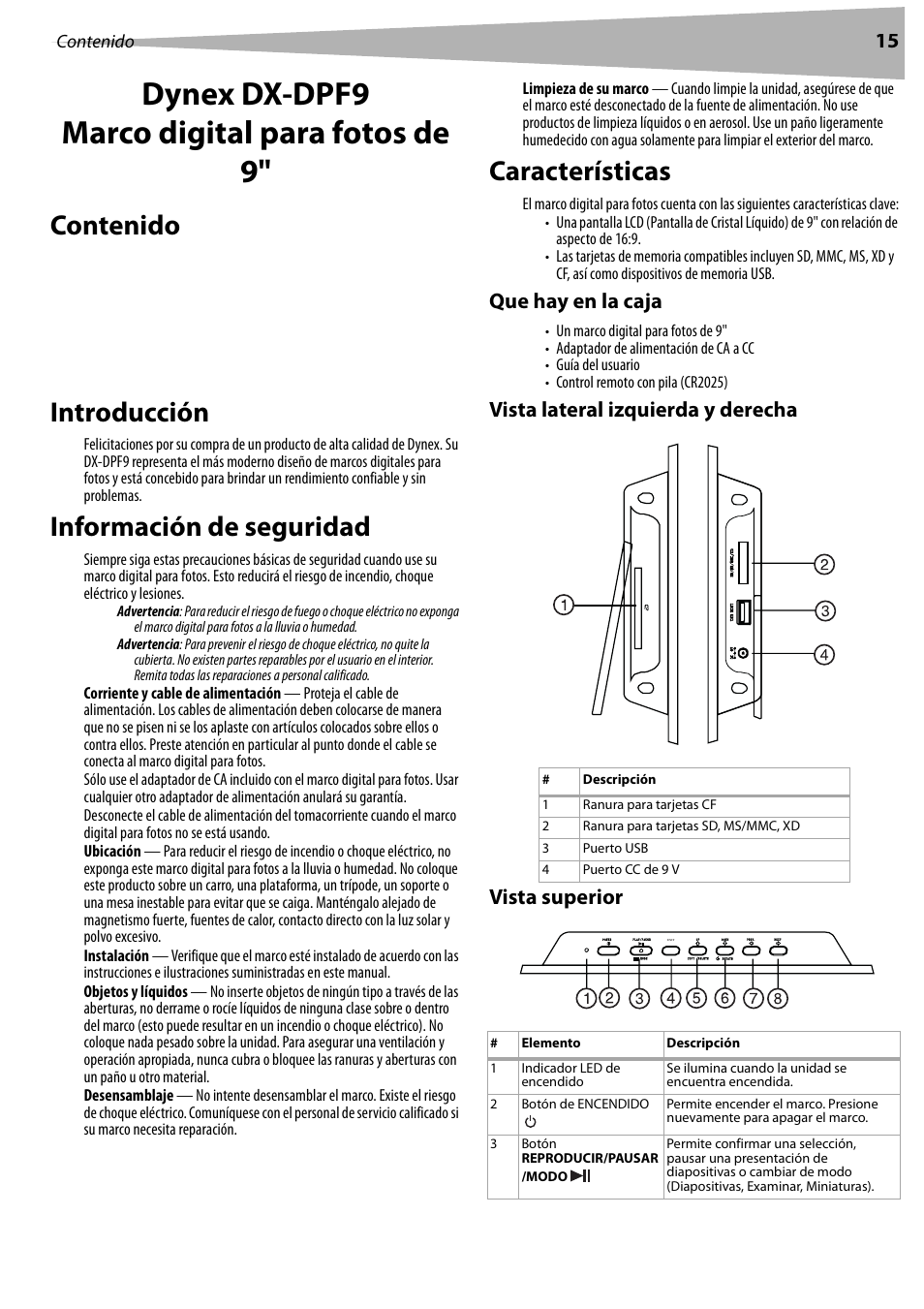 Dynex DX-DPF9 User Manual | Page 15 / 22