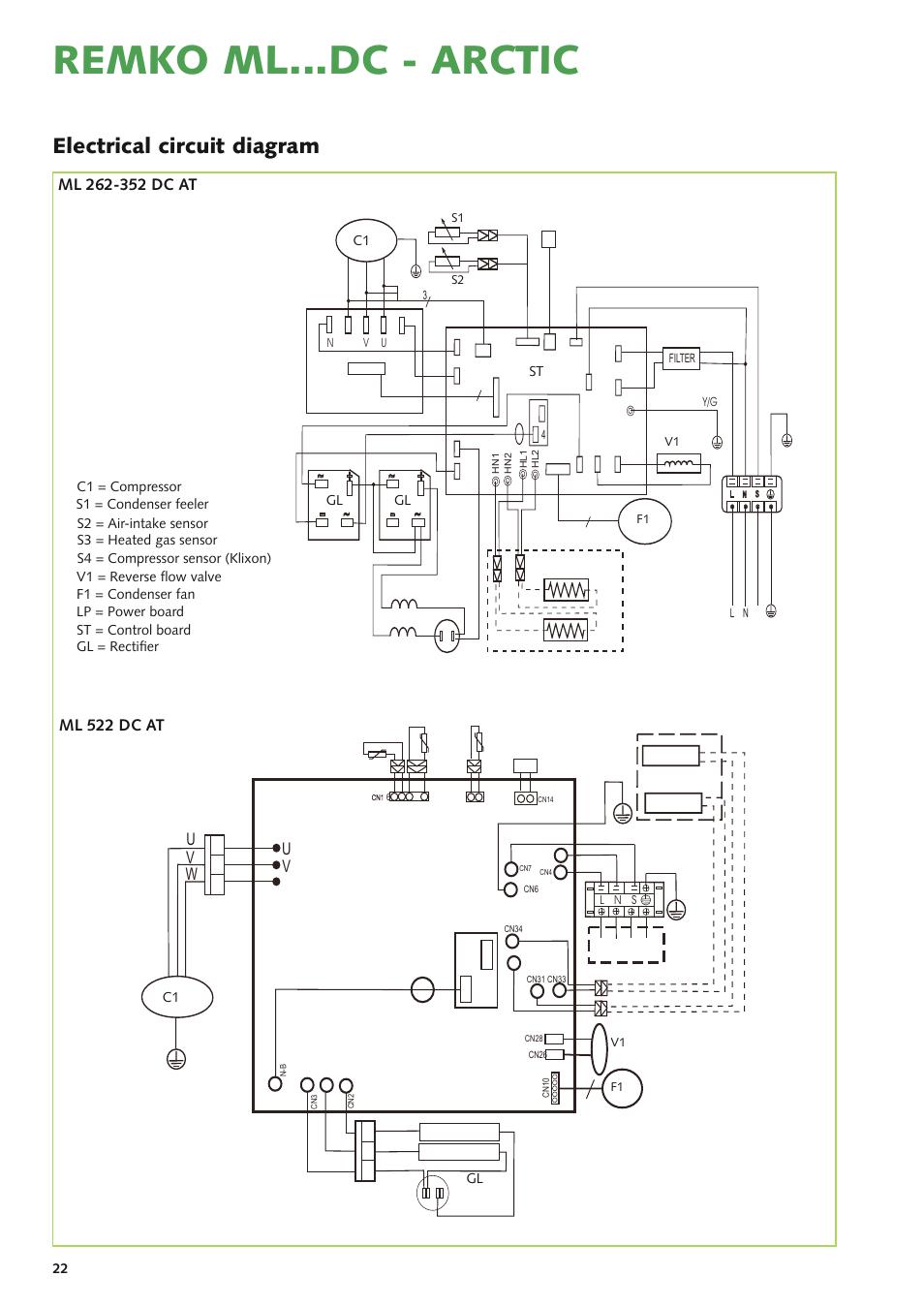 Remko Mldc Arctic Electrical Circuit Diagram Uv W Ml L Filter 262 Dc User Manual Page 22 32
