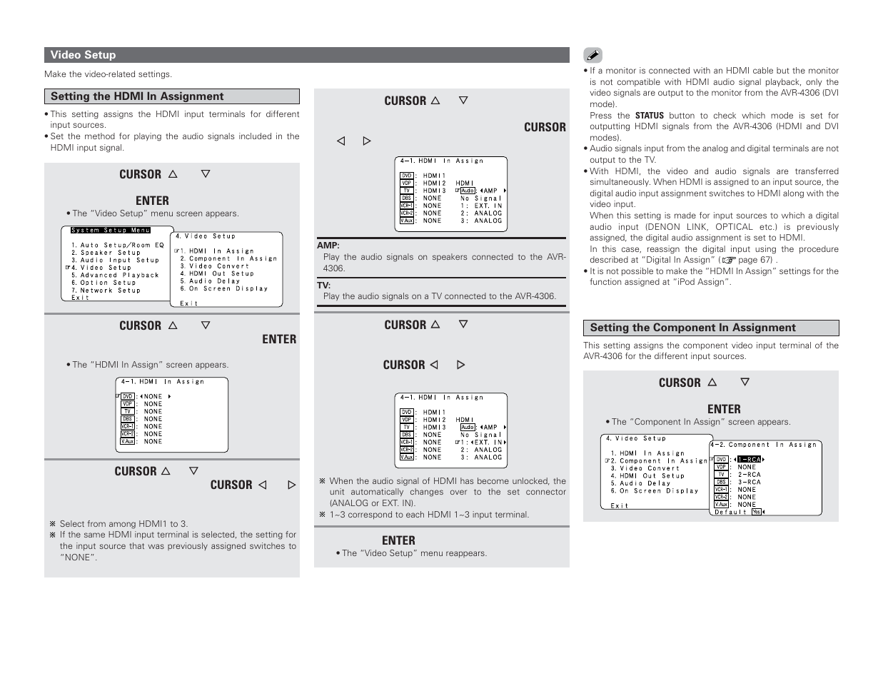 Denon AVR-4306 User Manual | Page 76 / 146