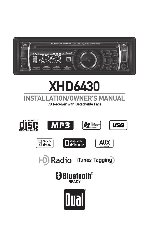 dual xhd6430 user manual