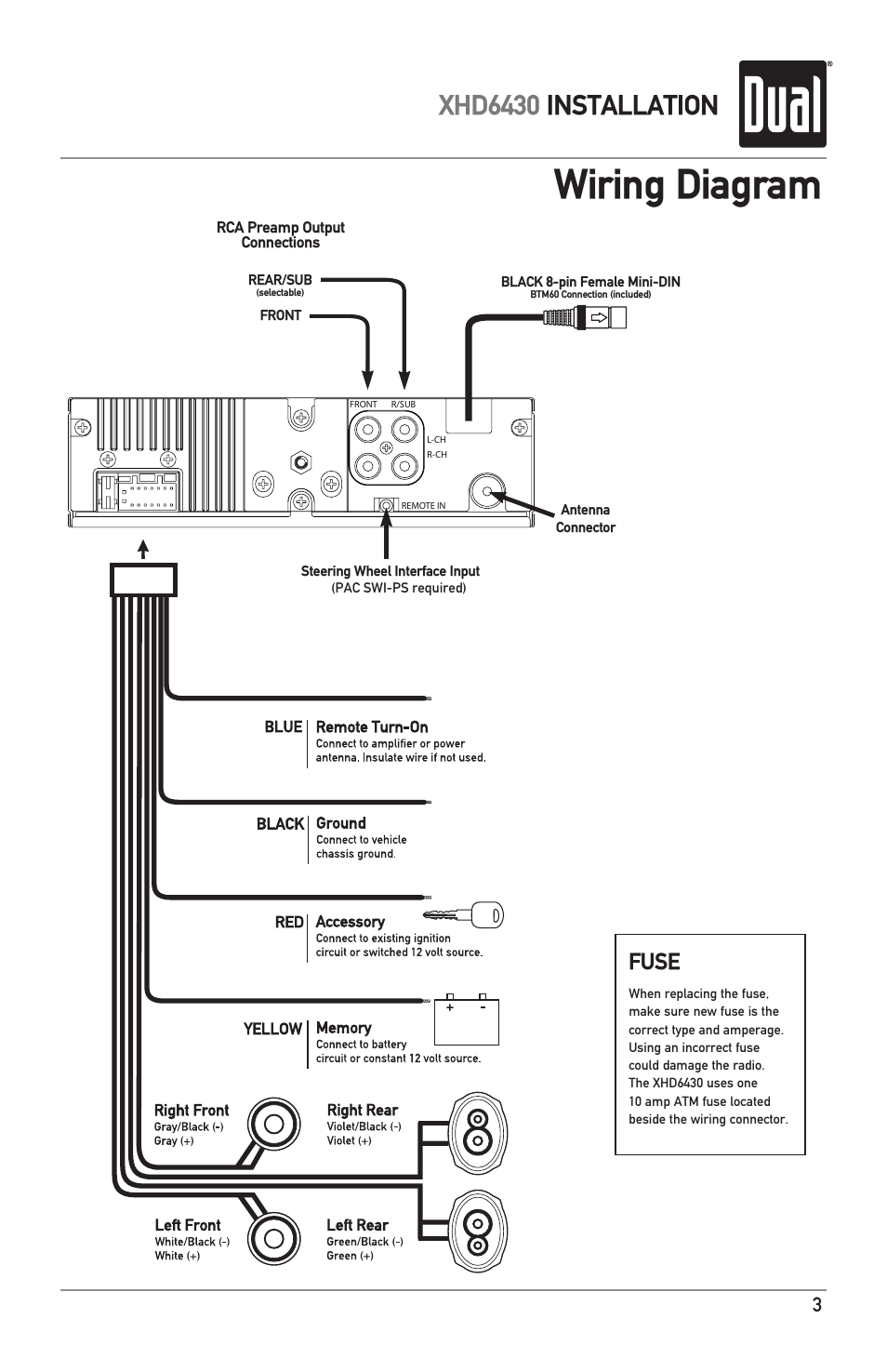 wiring diagram  xhd6430 installation  fuse