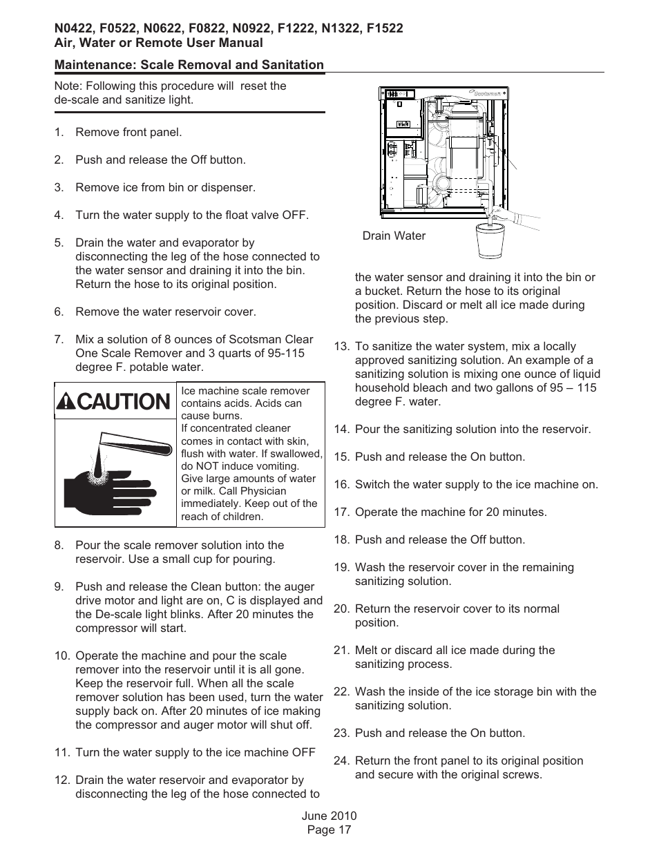 Scotsman F0522 User Manual | Page 18 / 24 | Also for: F0822, F1222, F1522,  N0422, N0622, N0922, N1322