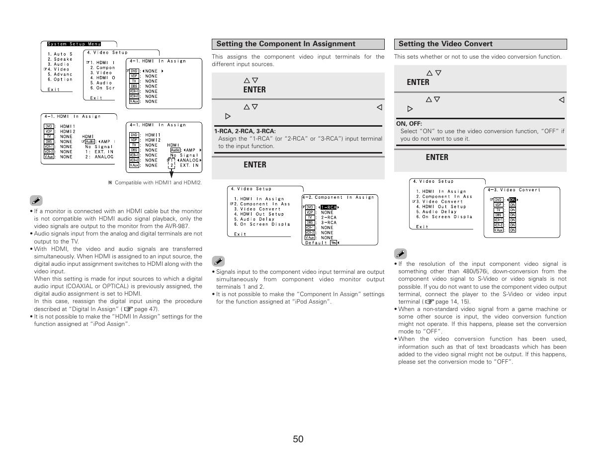 Denon AVR-987 User Manual   Page 54 / 80