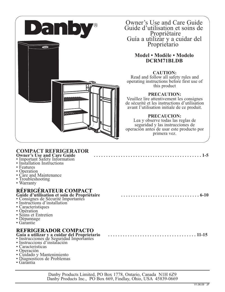 Danby syff123c1wl user manual | page 2 / 32 | original mode | also.