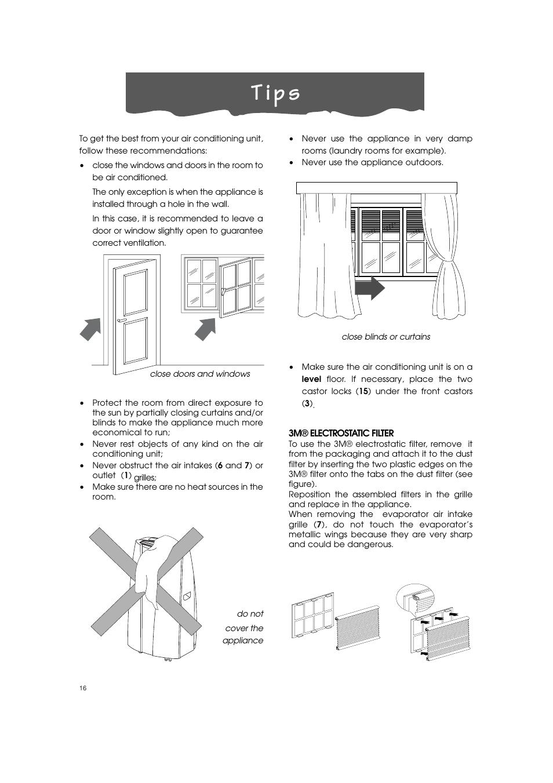 T i p s   DeLonghi PINGUINO PAC T110P User Manual   Page 16 / 19