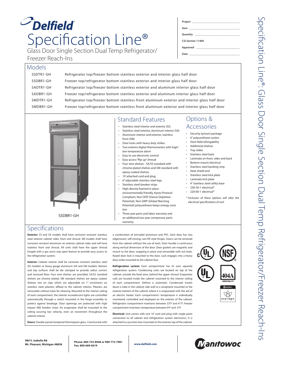 Delfield Smdbr1 Gh User Manual 2 Pages Also For Sadbr1 Typical Installation Detail Of Floor Wall Mounted Electrical Smdb