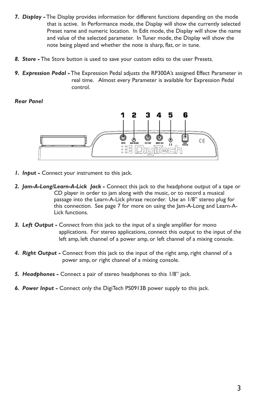 Digitech Rp300a User Manual Page 7 28 Mono Headphone Jack Wiring