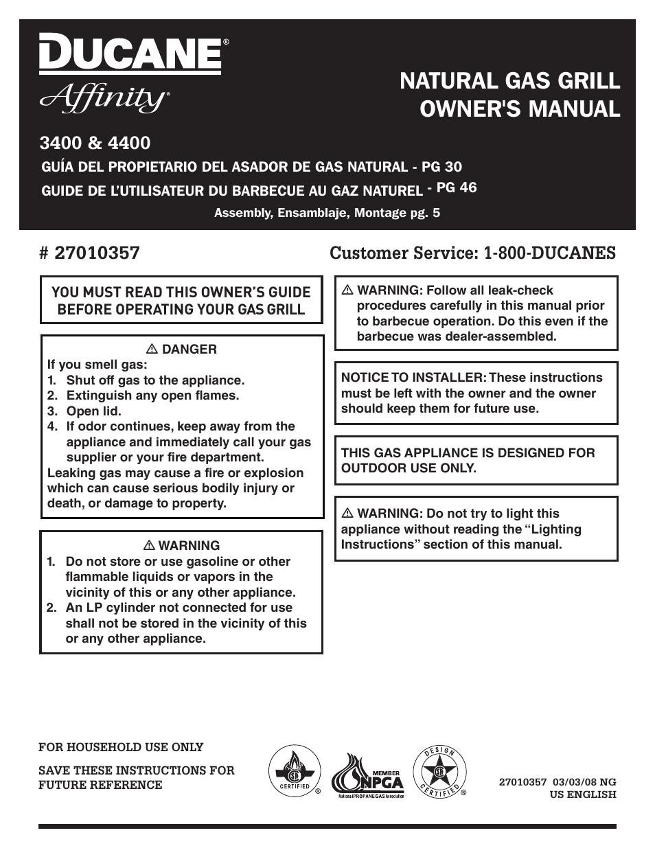 ducane affinity 4400 user manual 64 pages rh manualsdir com
