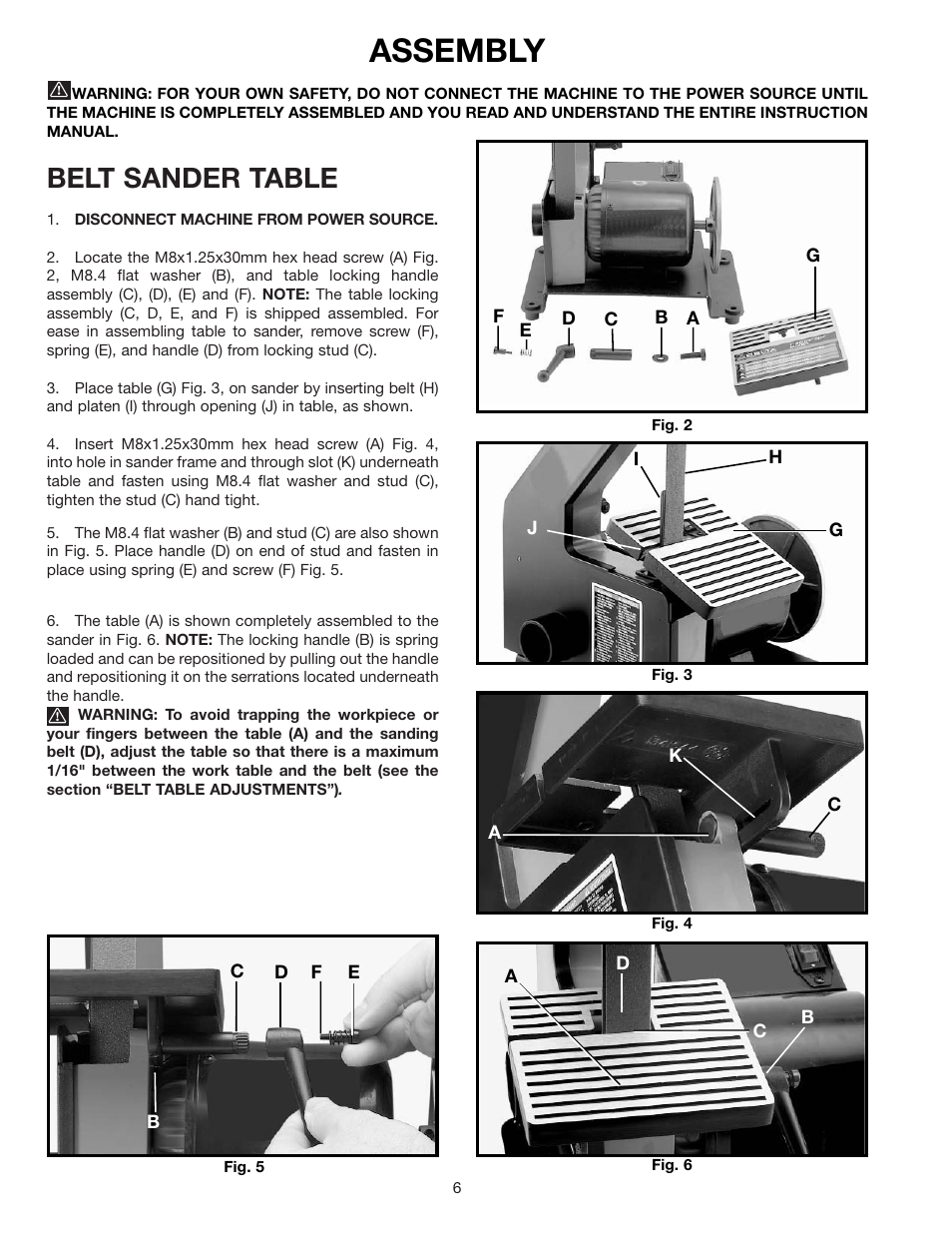 assembly belt sander table delta sa150 user manual page 6 12 rh manualsdir com
