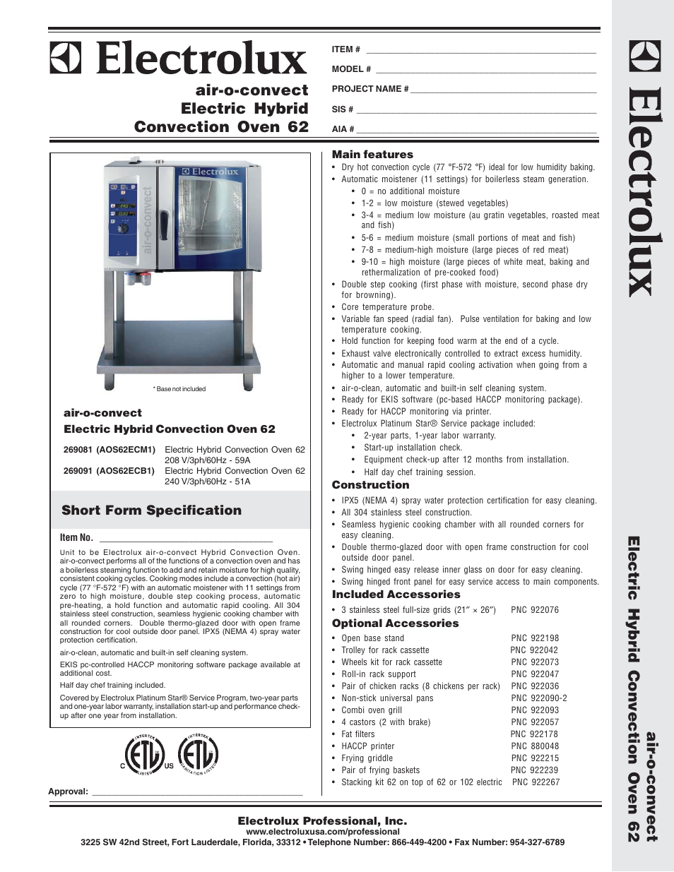 electrolux air o convect aos62ecb1 user manual 2 pages also for rh manualsdir com Hobart Convection Oven Hobart Convection Oven