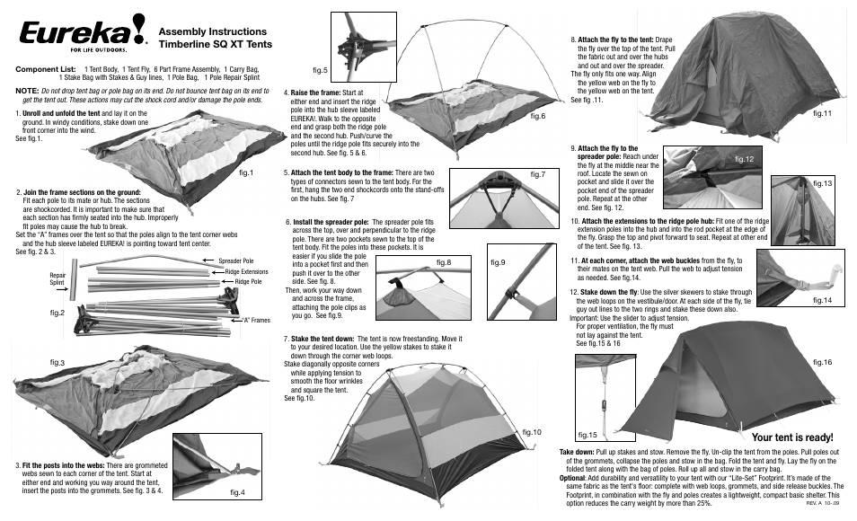 sc 1 st  manualsdir.com & Eureka Timberline SQ XT User Manual | 2 pages