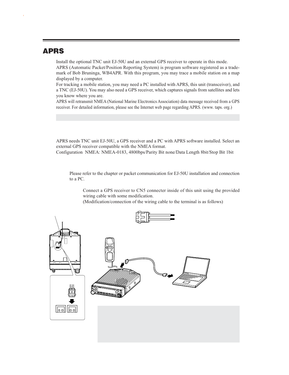 Aprs, Aprs settings   Alinco DR-635 User Manual   Page 54 / 66