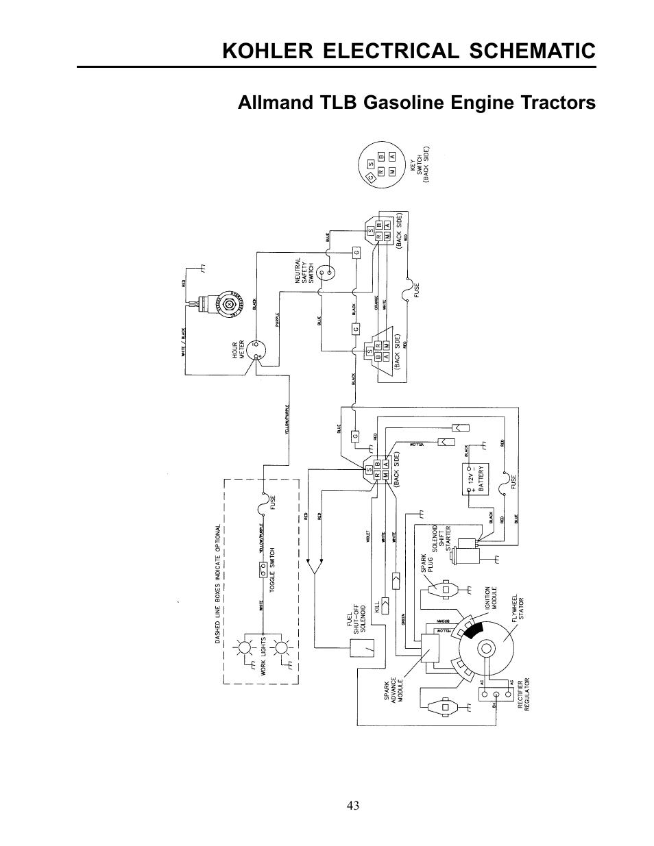 kohler electrical schematic