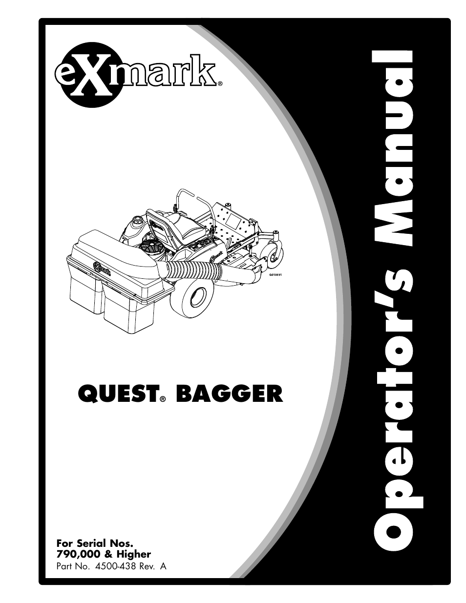 exmark quest bagger 4500 438 rev a user manual 24 pages rh manualsdir com Exmark Quest Electric Brake Controller Exmark Quest Electric Brake Controller