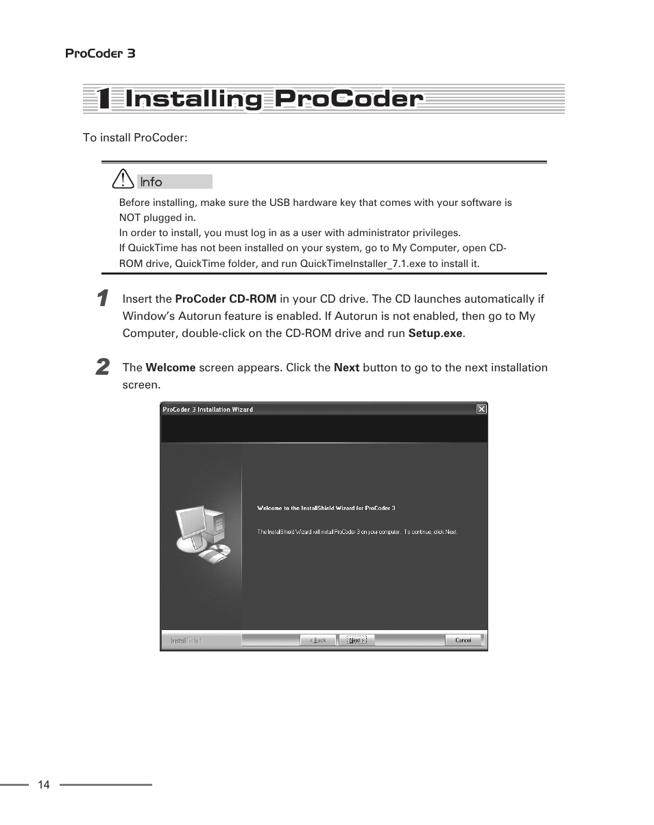 1 installing procoder installing procoder grass valley procoder 3 rh manualsdir com Instruction Manual Book Instruction Manual Book