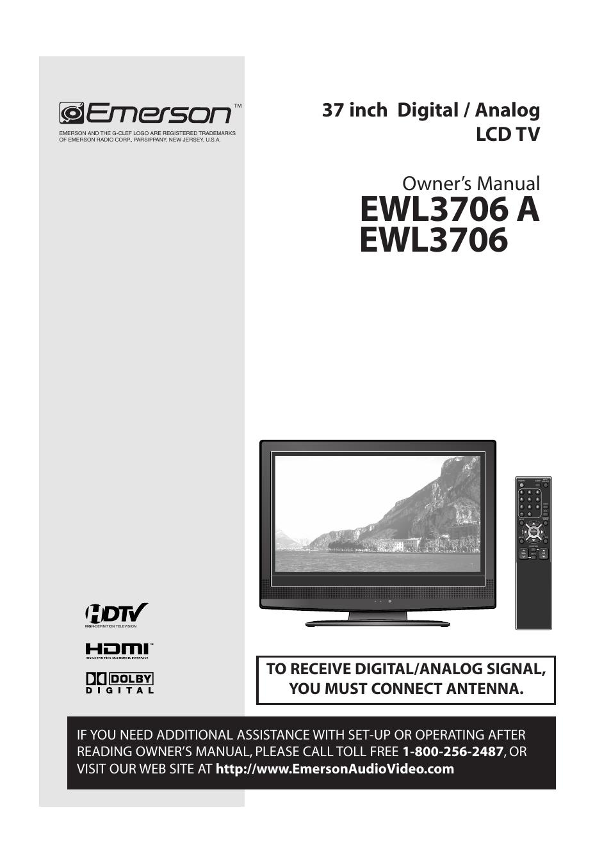 emerson ewl3706 a user manual 36 pages rh manualsdir com Emerson DVD Emerson TV DVD Combo