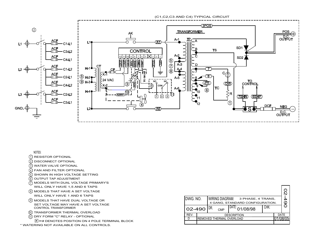 Dwg. no. wiring diagram: dr. date: chk | Exide Technologies Industrial Battery  Charger S47-0079 User Manual | Page 20 / 20