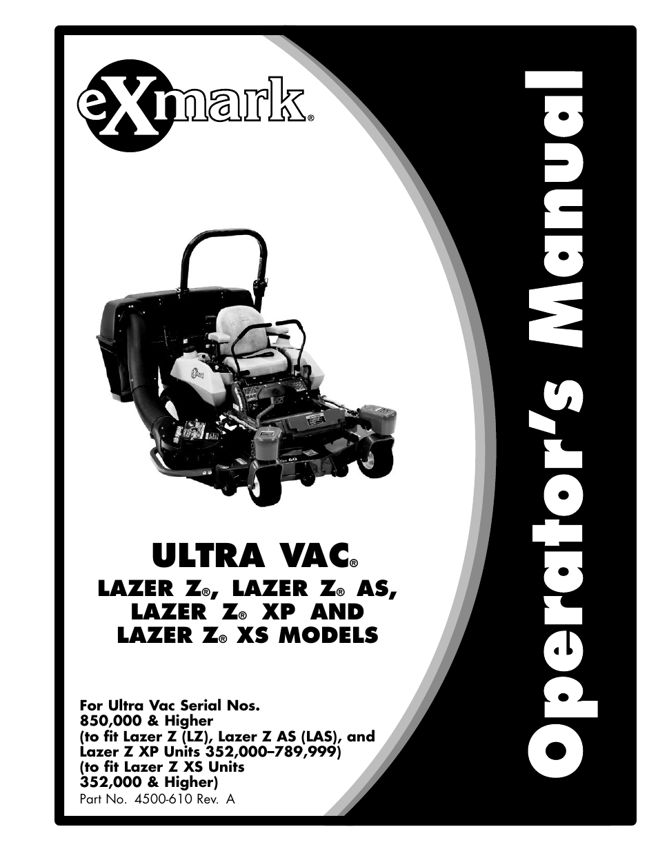 exmark lazer xp user manual 24 pages also for lazer as rh manualsdir com Top Commercial Zero Turn Mowers Exmark Rear Discharge Mower