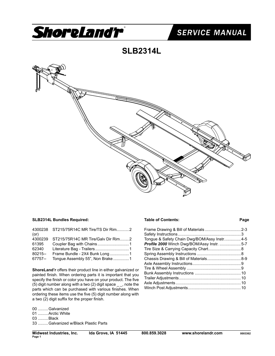 Shorelandr Slb2314l User Manual 10 Pages 2 Post Winch Wiring Diagram