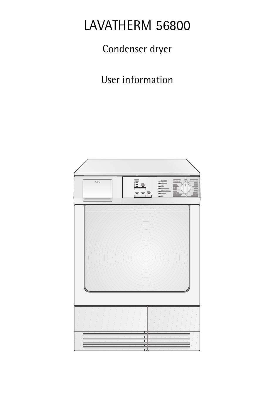 Aeg lavatherm 56800 инструкция