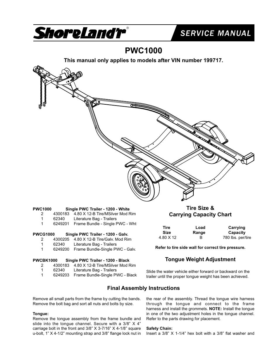 Shorelandr Pwc1000 V2 User Manual 4 Pages Also For Ss1023 Shorelander Trailer Wiring Harness Ss1024 Slr20w Slr20bw Slr20blw Slb20blw Slb20bw Slb20w Slb20lw Slf20lw 2x4 2x4w