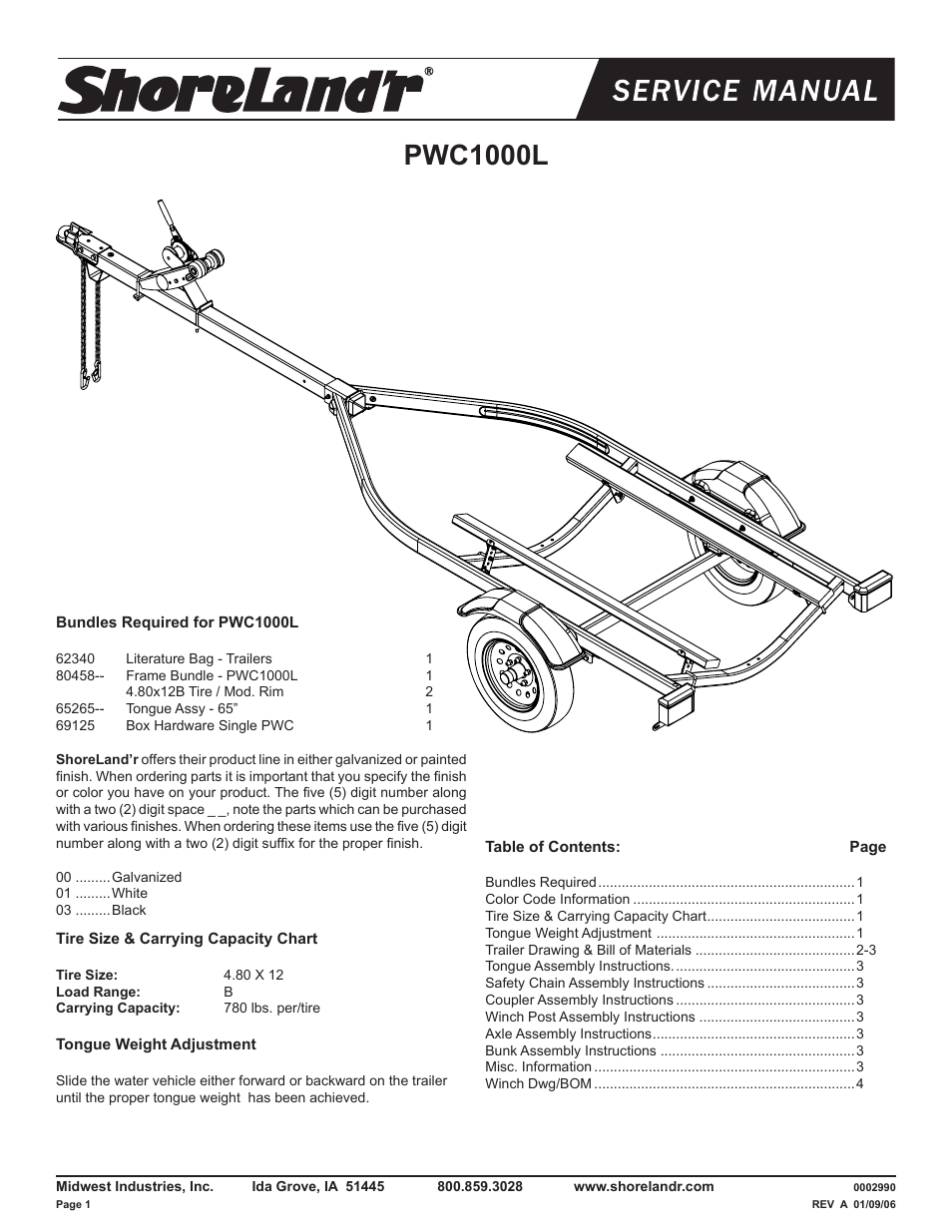 Shorelandr Pwc1000l V1 User Manual 4 Pages 2 Post Winch Wiring Diagram