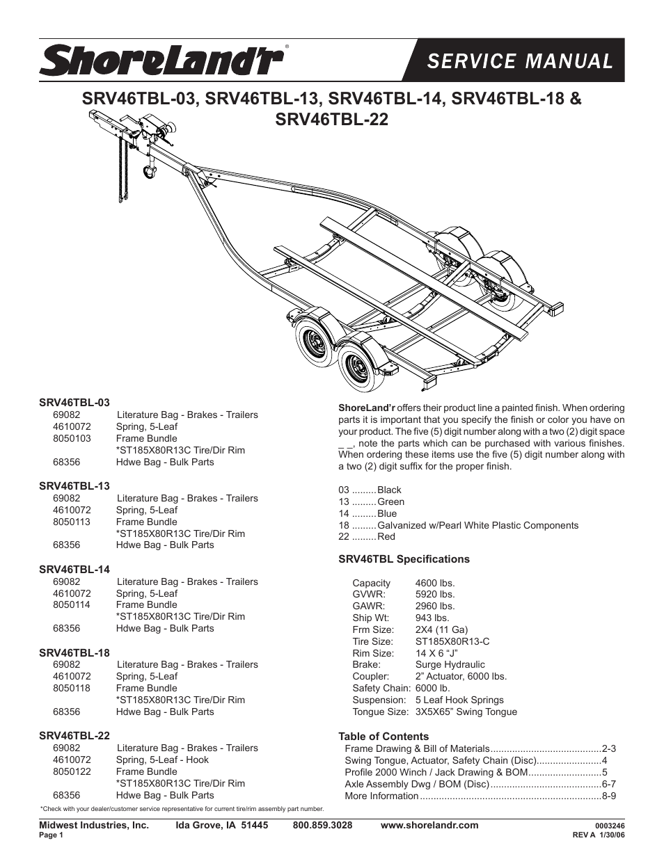 Shoreland U0026 39 R Srv46tbl User Manual