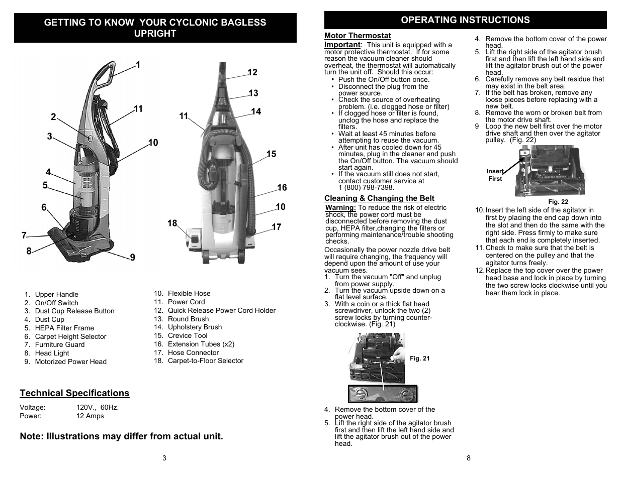 Euro Pro Shark Pursuit Uv209b User Manual Page 4 6