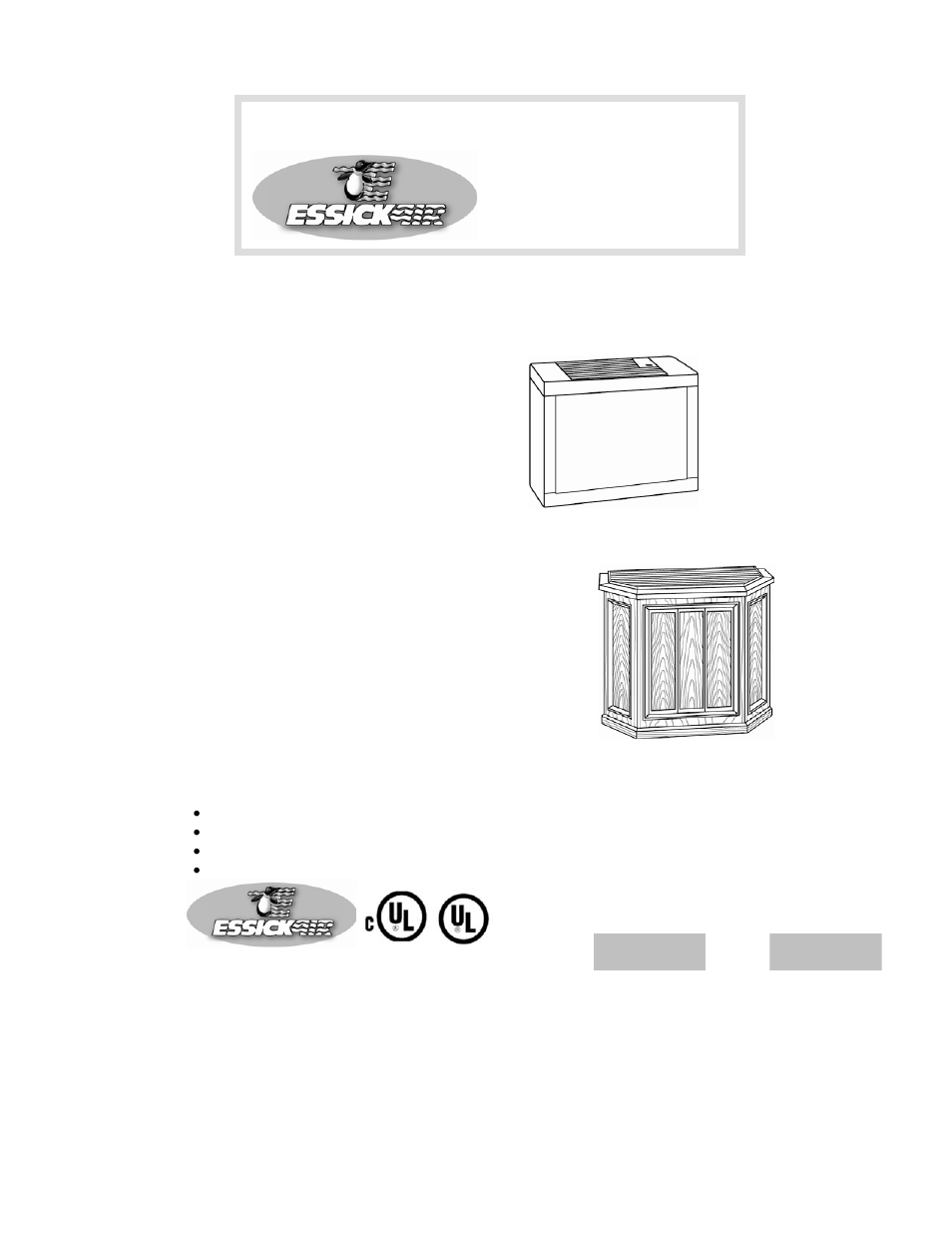 Essick Air 696 400 User Manual | 13 pages | Also for: 4D7 800, 4D7 300, 697  500, 447 302