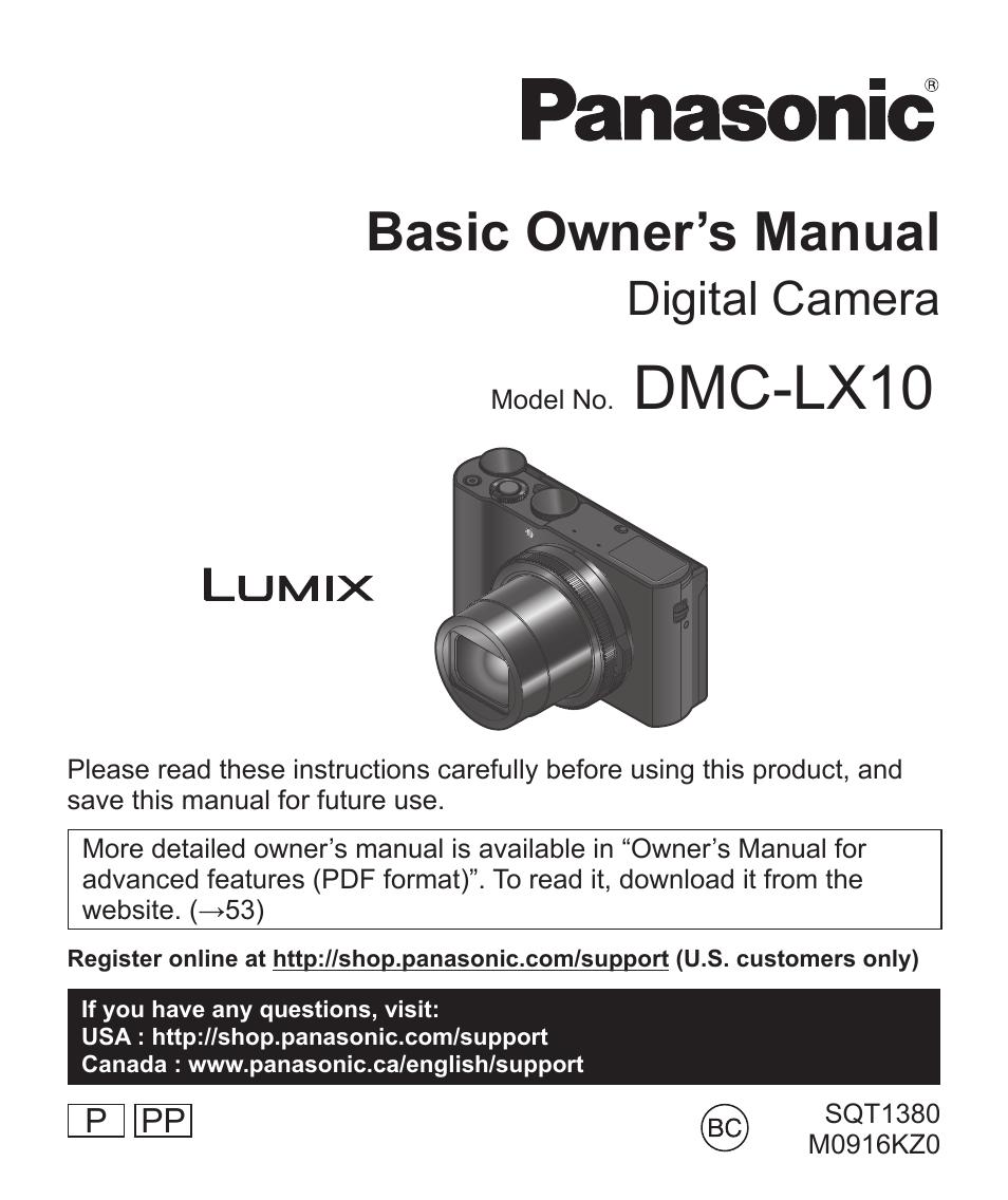 panasonic lumix dmc lx10k user manual 72 pages rh manualsdir com Panasonic TV Manual panasonic support manual for kx-tg7871