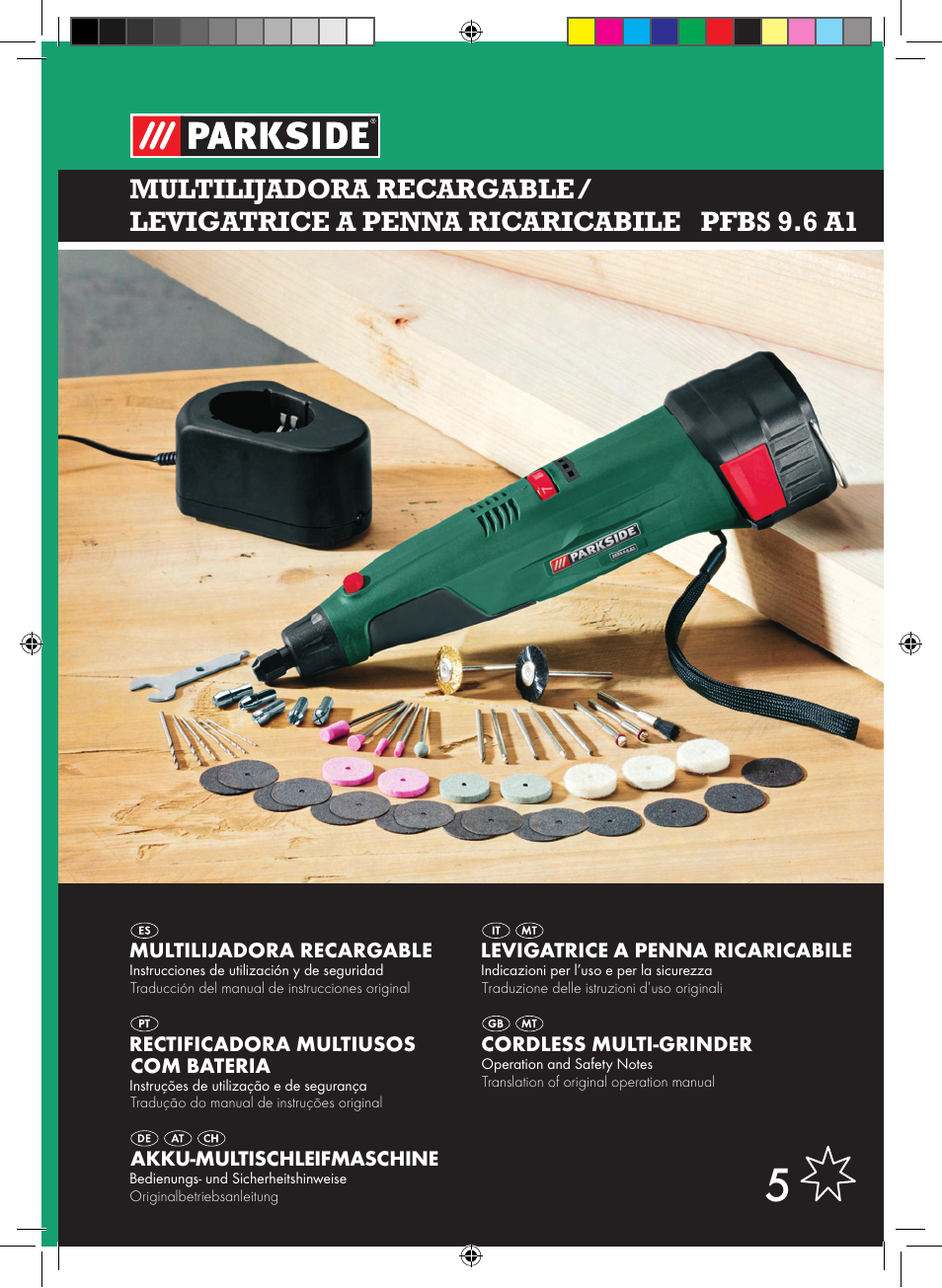 Parkside pfbs 9 6 a1 user manual 75 pages for Levigatrice a penna multifunzione parkside