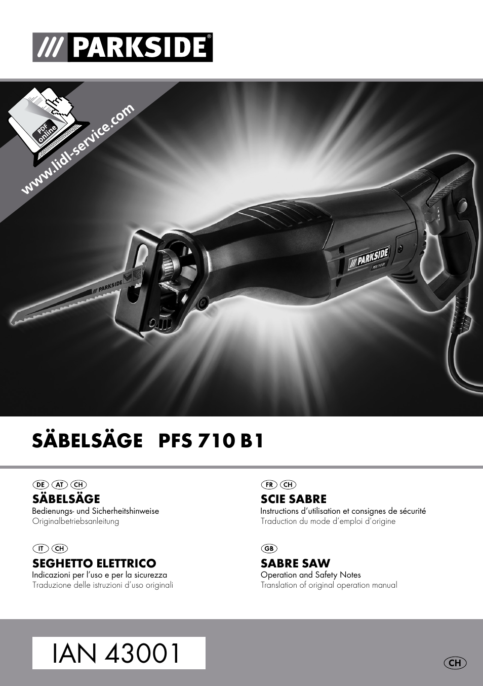 Parkside Pfs 710 B1 User Manual 43 Pages