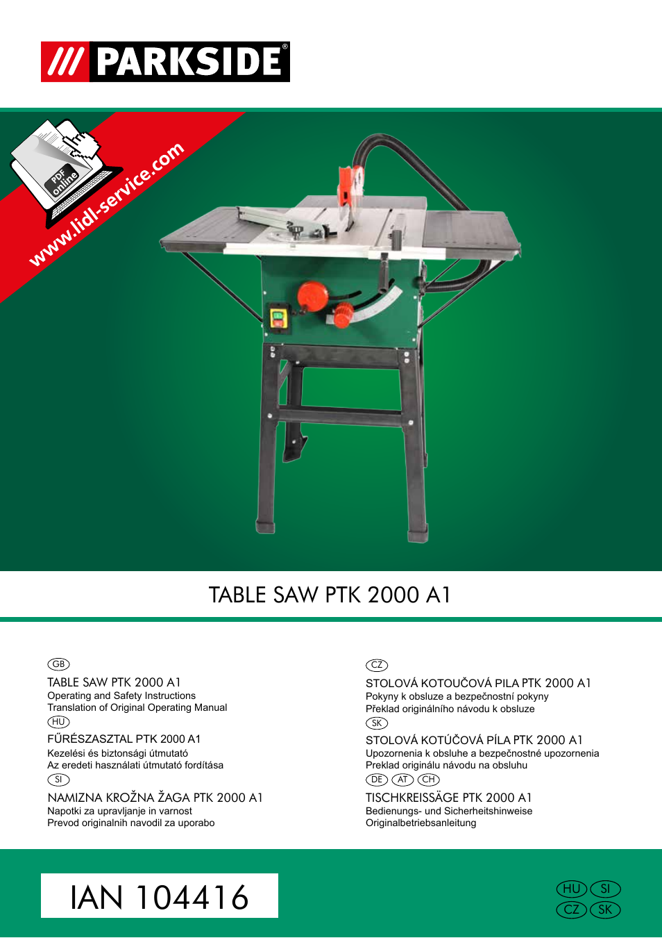 parkside ptk 2000 a1 user manual 90 pages. Black Bedroom Furniture Sets. Home Design Ideas