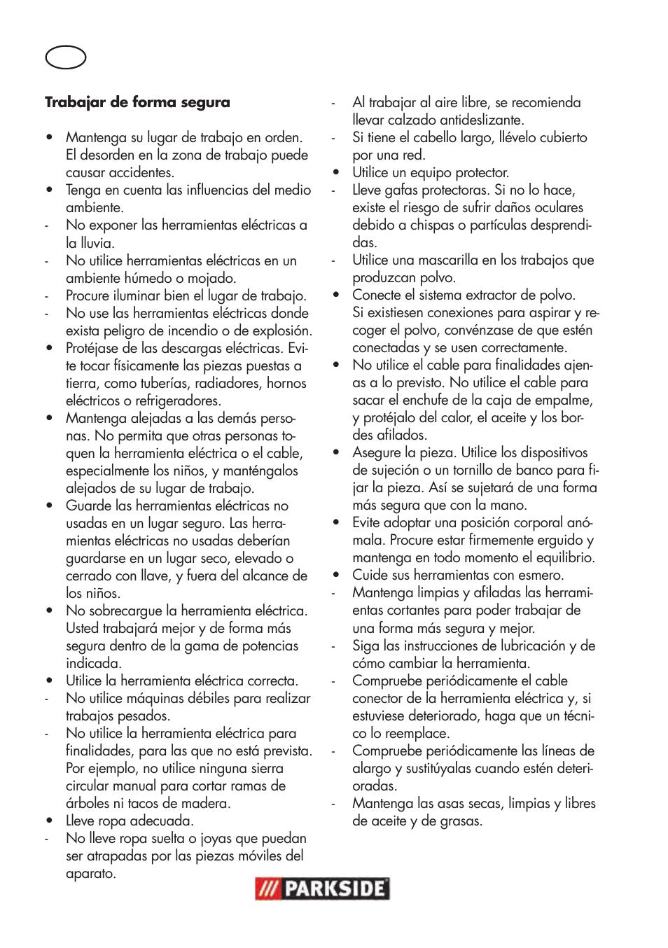 Parkside Ptbm 500 A1 User Manual Page 8 90