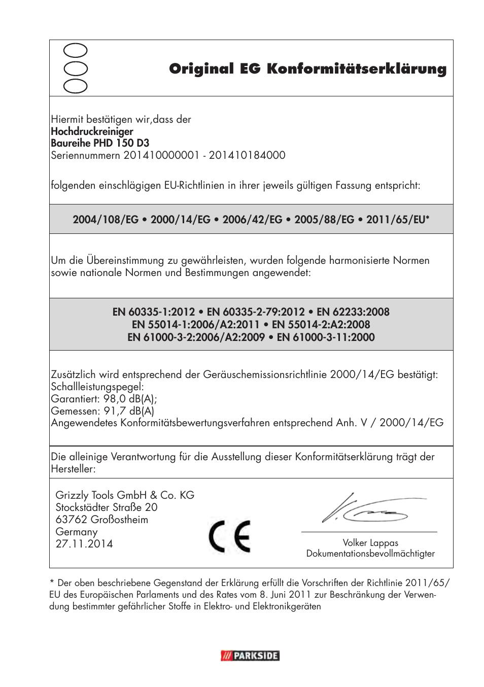 original eg konformit tserkl rung parkside phd 150 d3 user manual rh manualsdir com antminer d3 user manual diablo 3 instruction manual