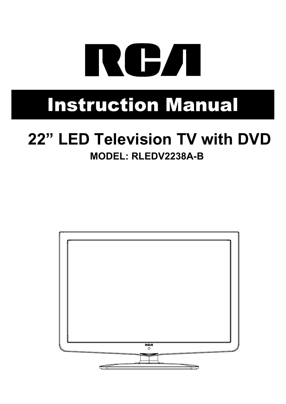 rca rledv2238a b user manual 31 pages. Black Bedroom Furniture Sets. Home Design Ideas