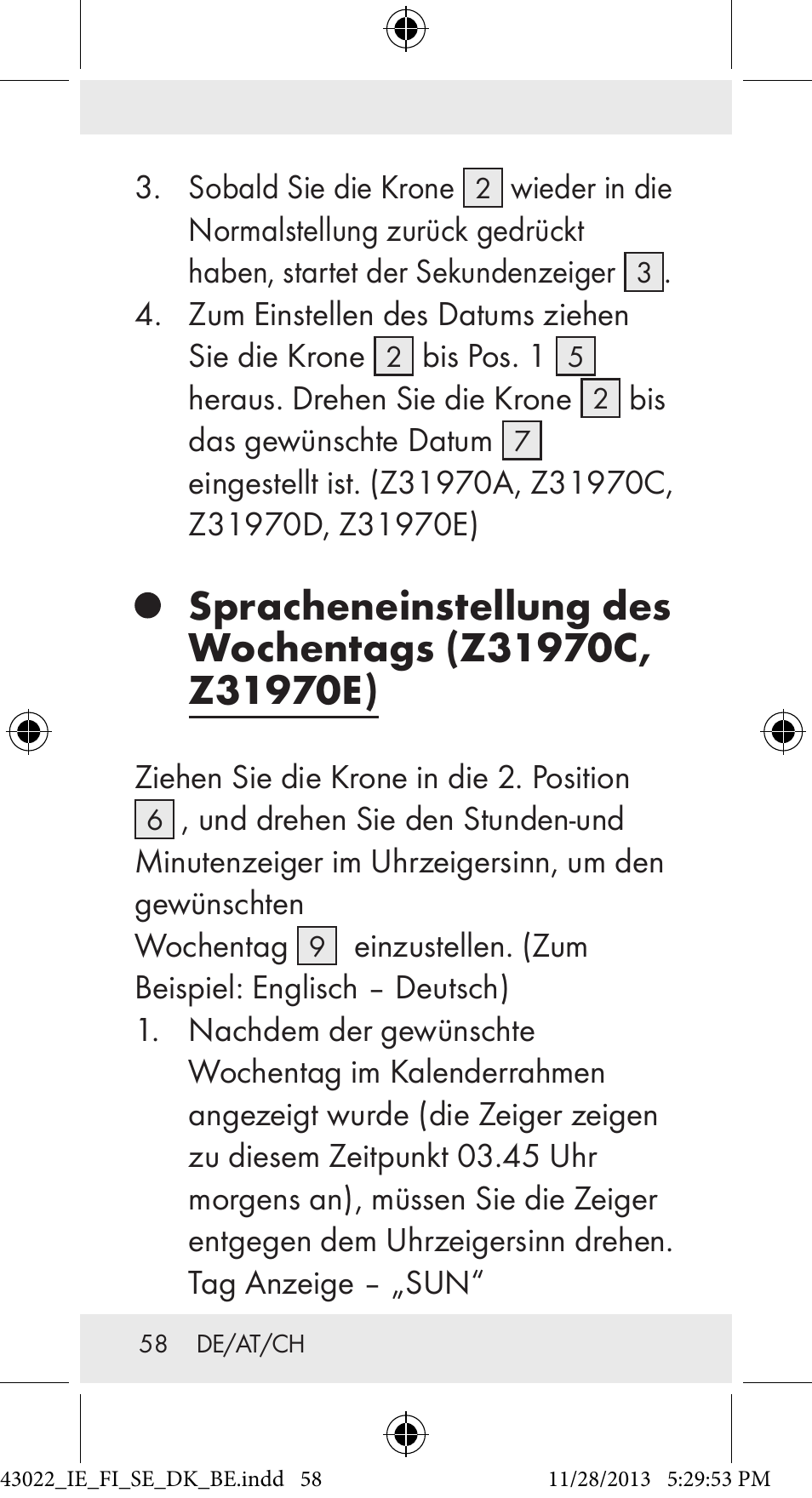 Auriol Z31970 User Manual | Page 58 / 65 | Also for: Z31814, 103806 ...