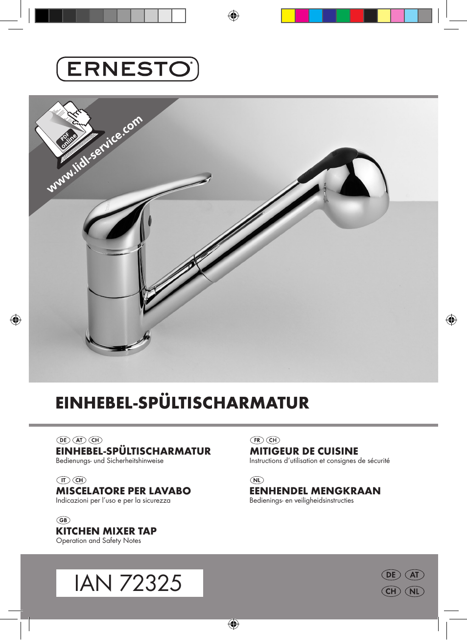Ernesto Kitchen Mixer Tap User Manual 41 Pages