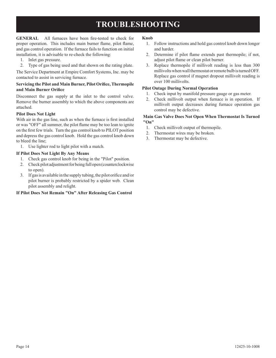 Troubleshooting Empire Products Gwt 35 2sg User Manual Page 14 60 Wall Heater Thermostat Wiring