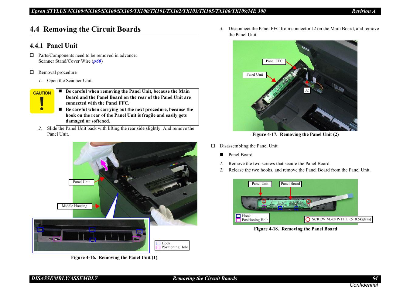Epson Nx100 Manual Wiring Stock Camera To A Rosen Navigation N11 Toyota Fj Cruiser Array 4 Removing The Circuit Boards 1 Panel Unit U201d P64 Rh
