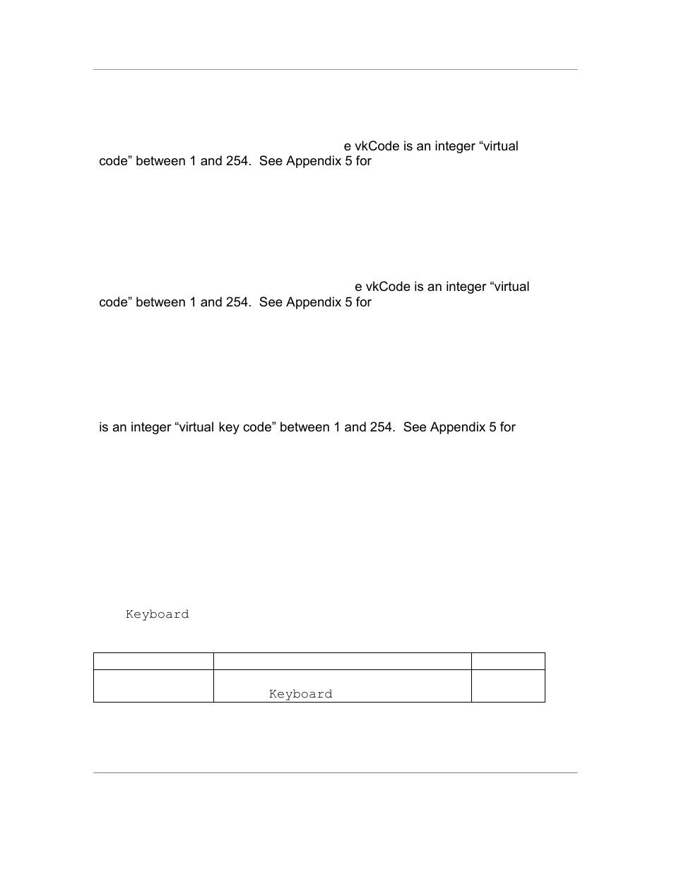 Properties, Status = simulatekeydown ( vkcode ), Status