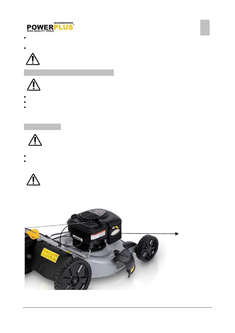 Powerplus POWXG6011 LAWNMOWER 190CC 550MM EN User Manual   Page 11 / 16