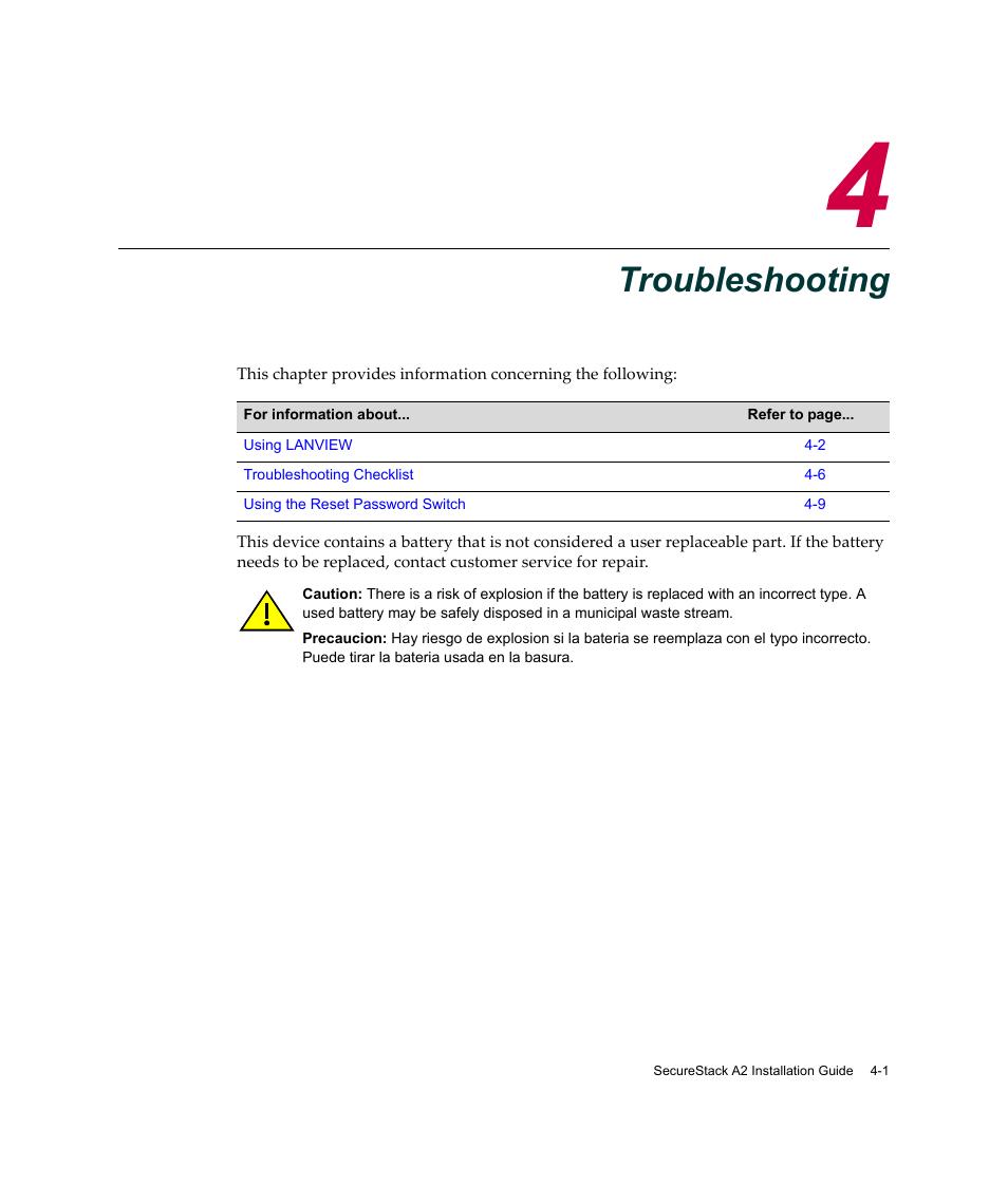 troubleshooting chapter 4 troubleshooting hapter 4 enterasys rh manualsdir com