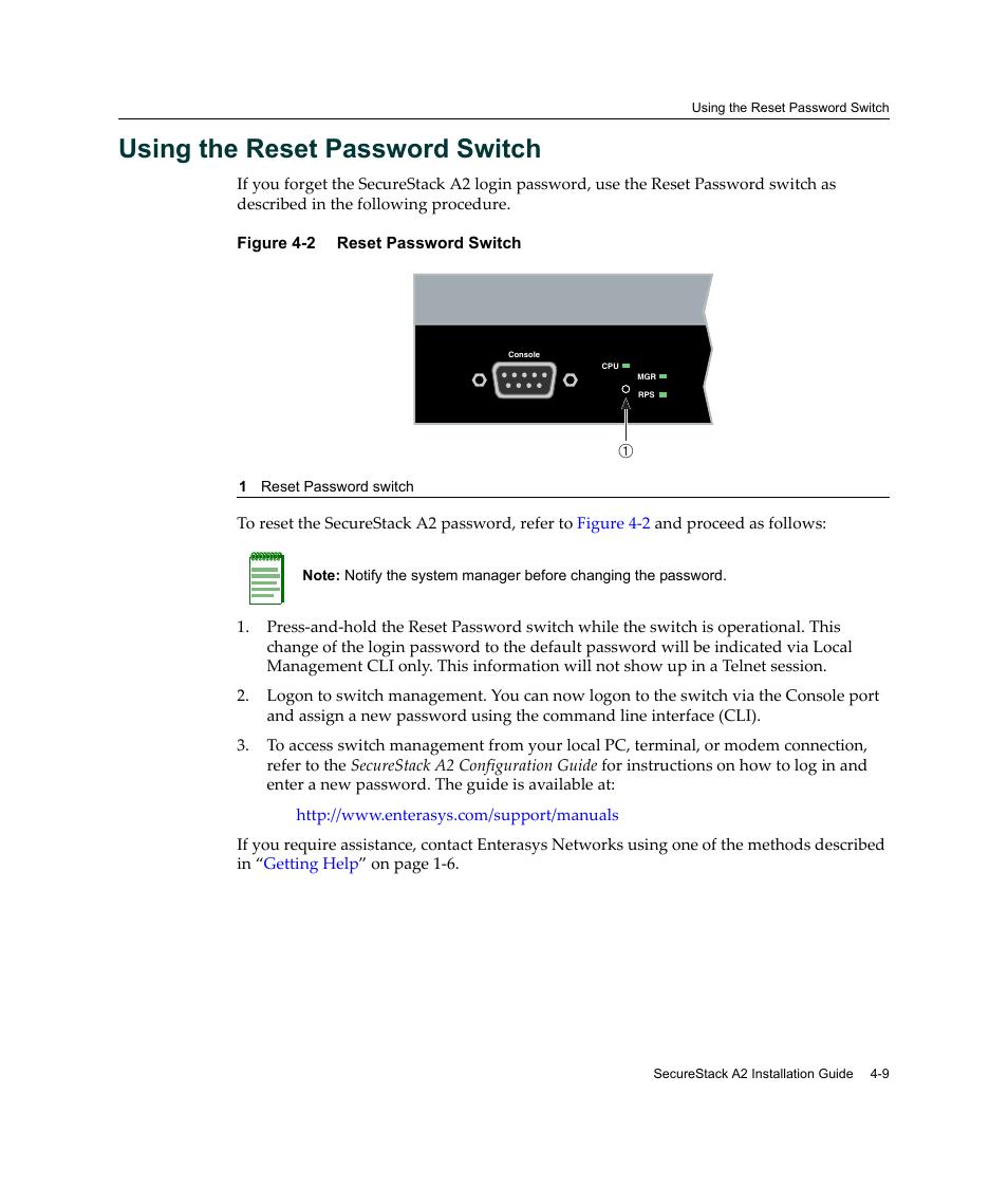 using the reset password switch using the reset password switch 9 rh manualsdir com