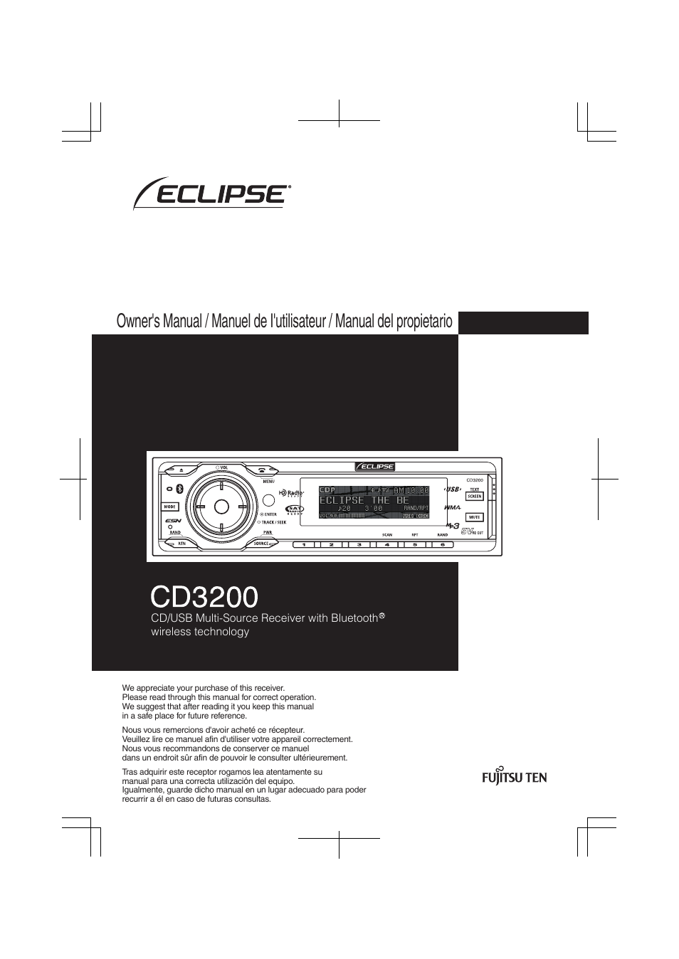 eclipse fujitsu ten eclipse cd3200 user manual 111 pages rh manualsdir com