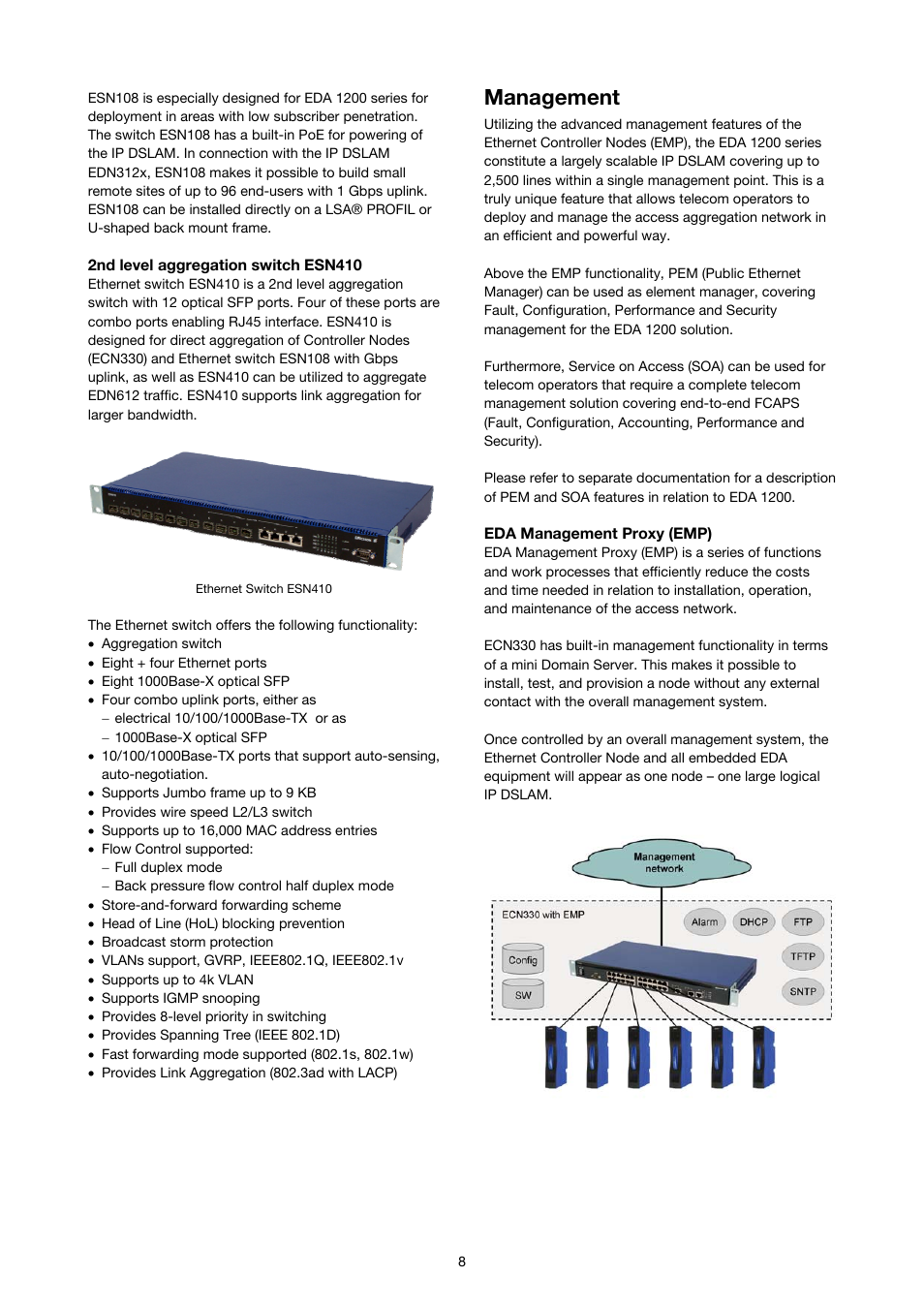 Management | Ericsson SOLUTION DESCRIPTION EDA 1200 4 0 User Manual