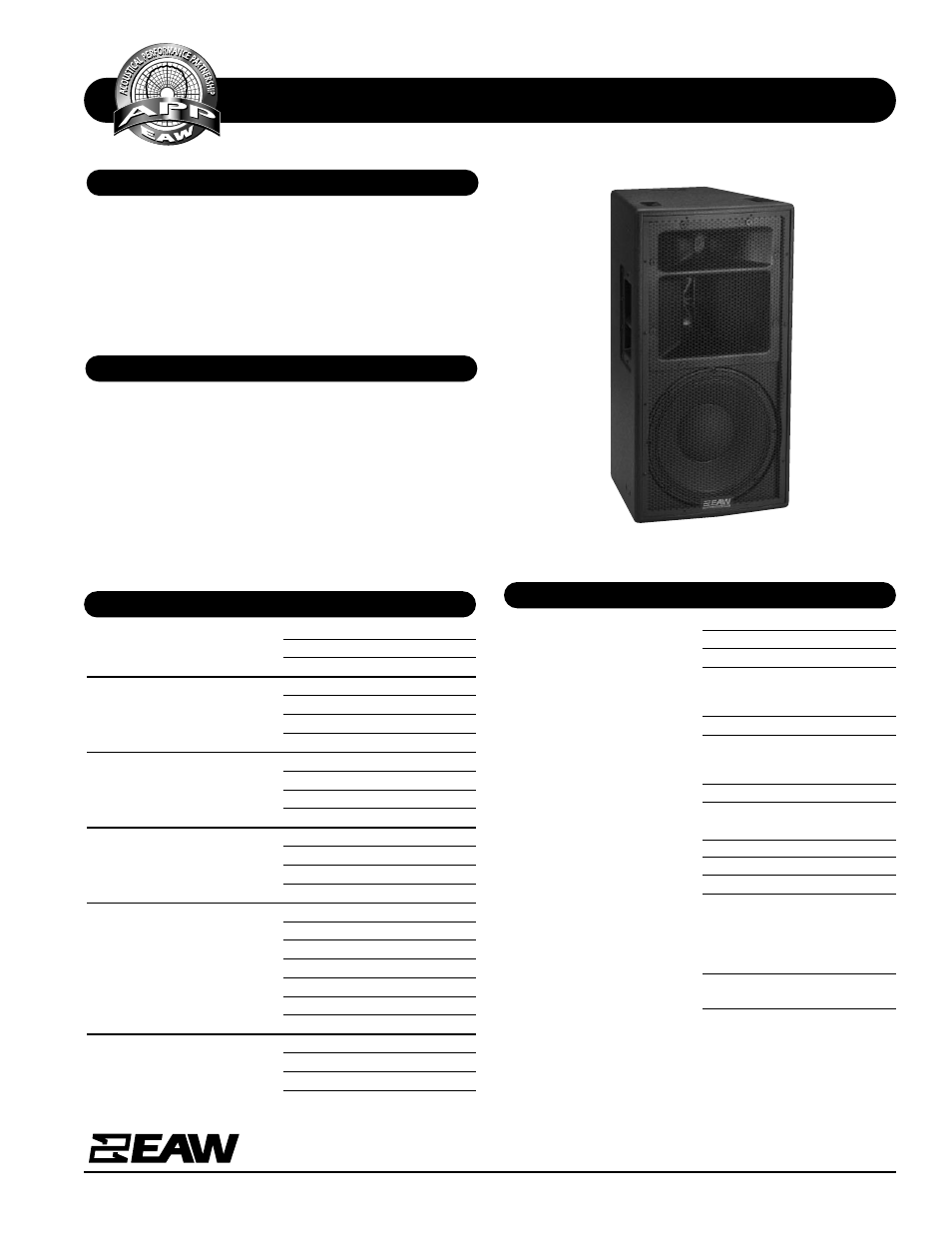 eaw kf300z user manual 2 pages rh manualsdir com